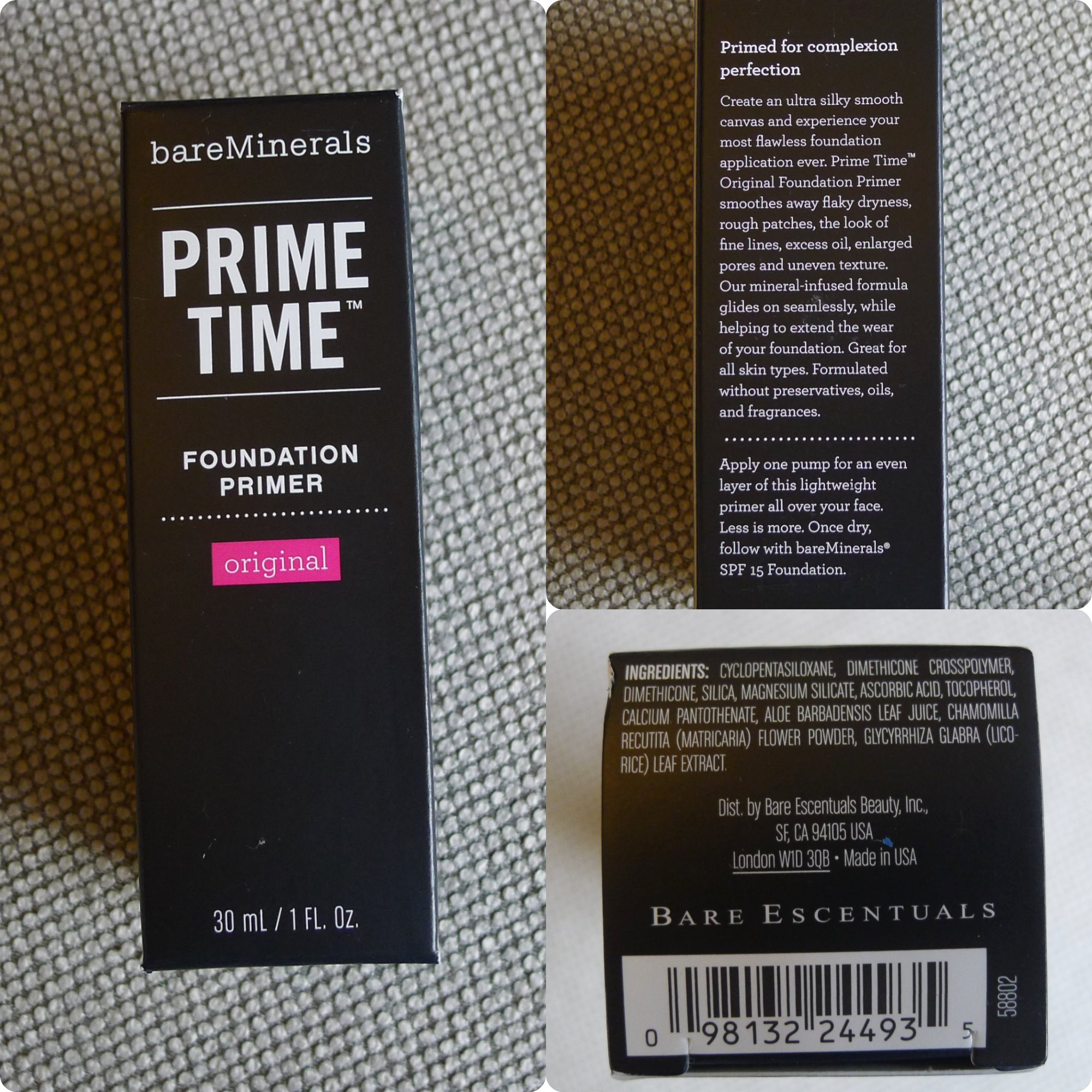 bareminerals primer recension