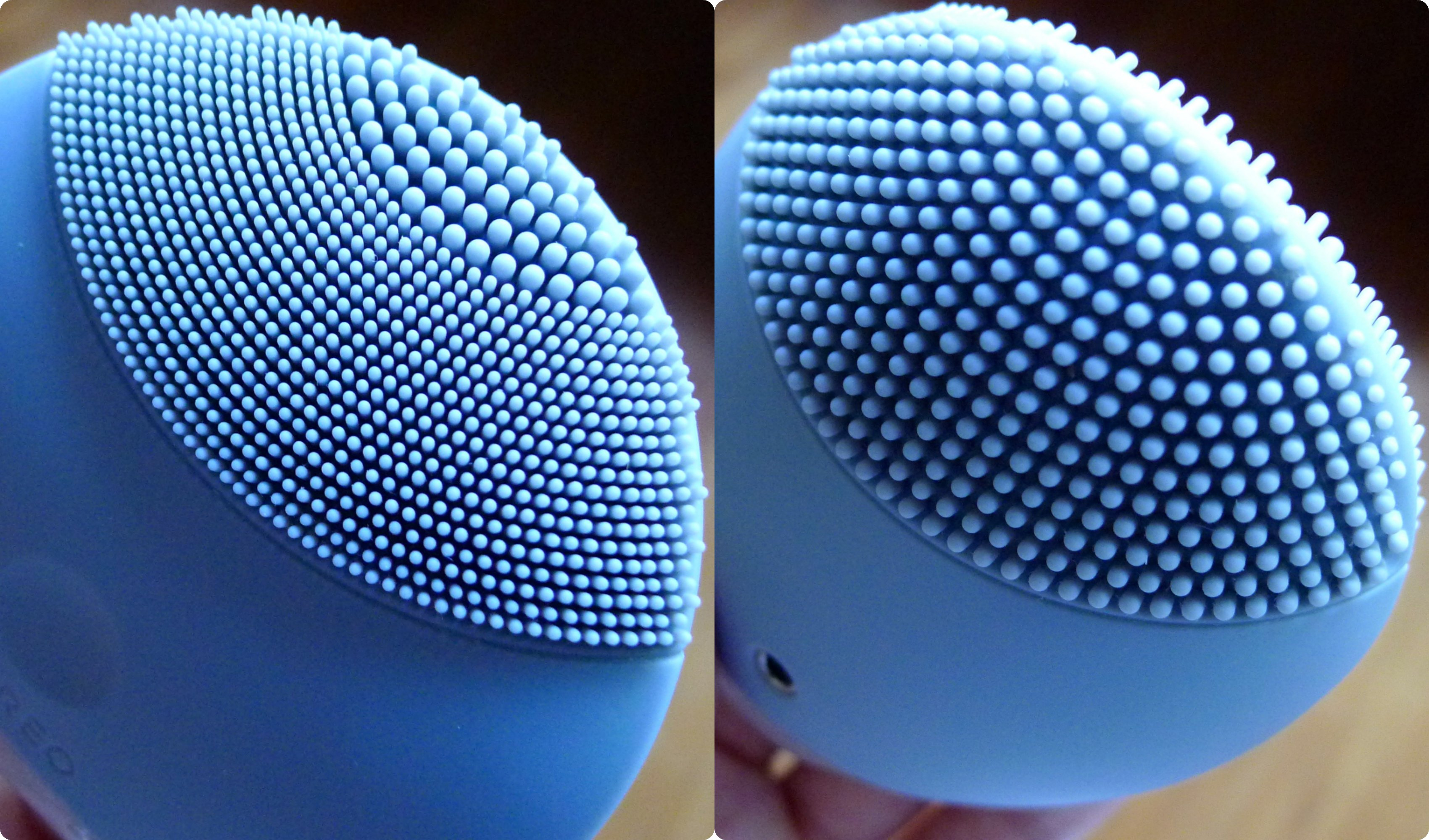 Review Foreo Luna Mini The Beauty Bee 2 Two Faces Of In Cool Gray Serve Different Purposes Photo On Left Shows Smaller Touch Points Which Are Meant For General